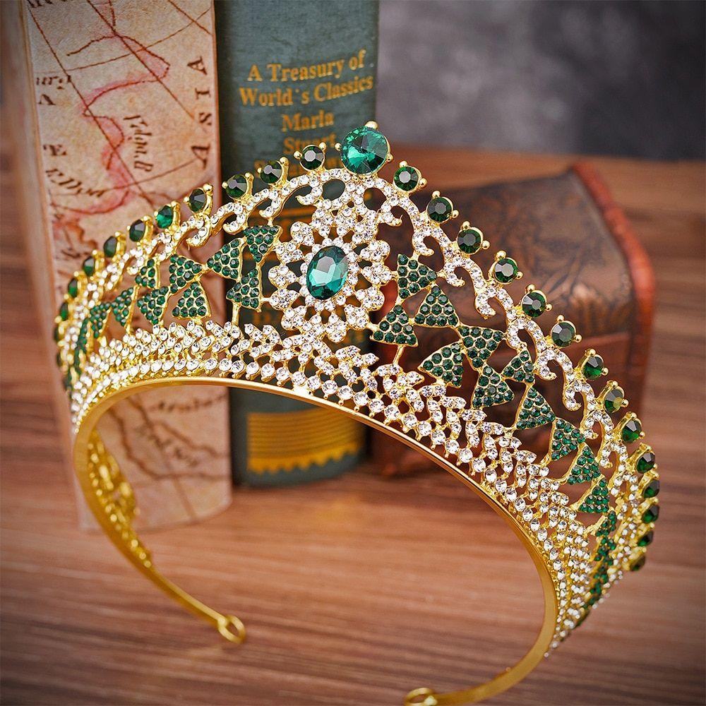 Cheap Hair Jewelry Buy Directly From China Suppliers Kmvexo Geometric Wedding Bridal Tiara Blue Green Red Gold Bridal Headband Bridal Headband Handmade Tiaras