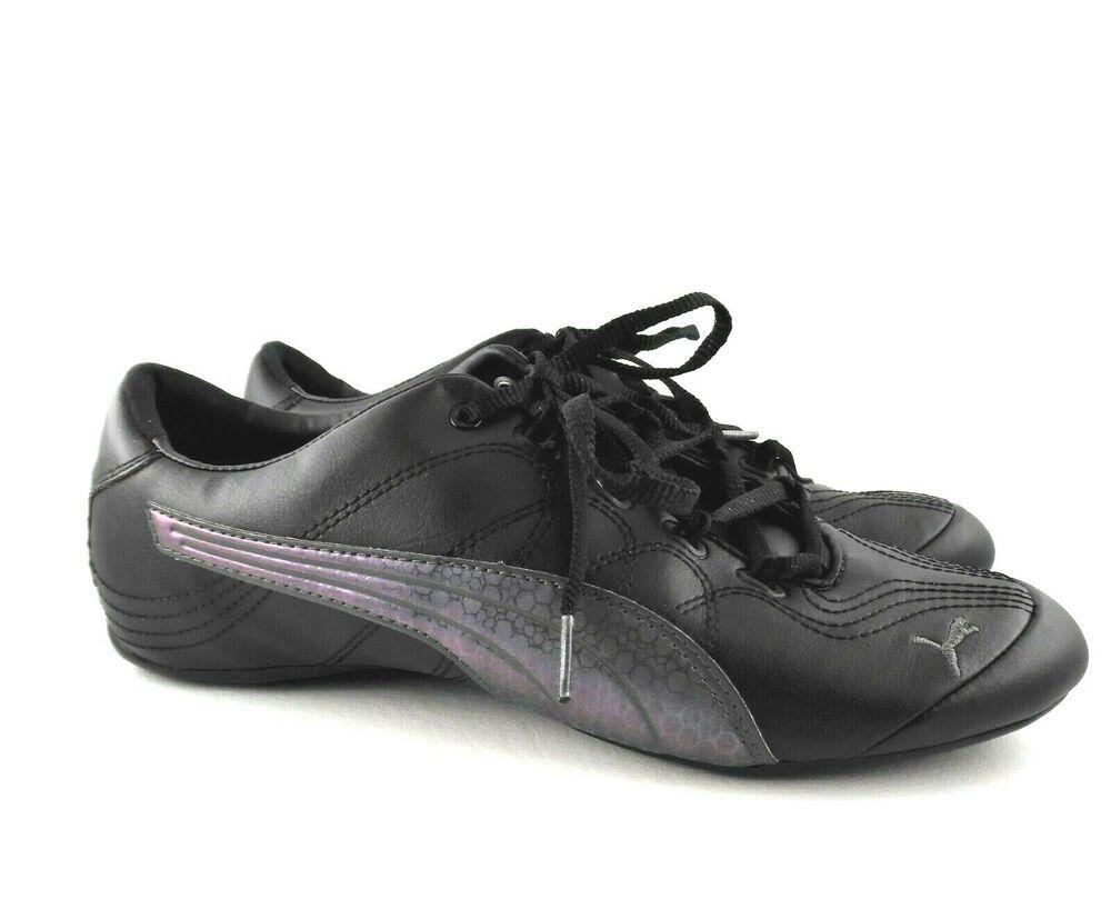 Puma Soleil V2 Black Dark Shadow Synthetic Leather Shoes