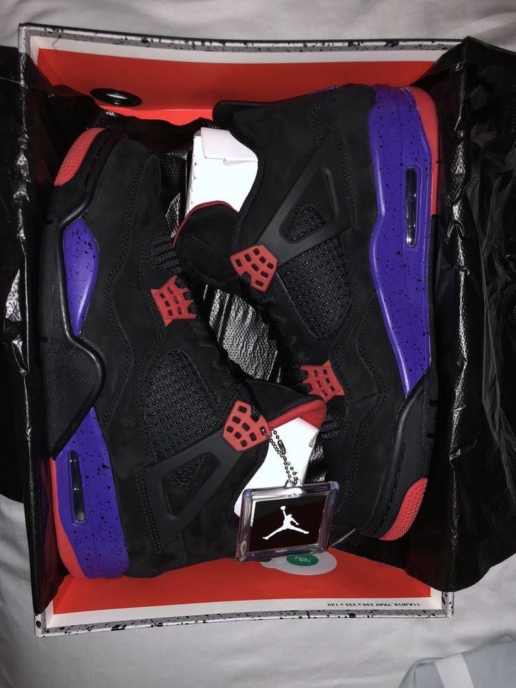 designer fashion 93545 678ec Air Jordan 4 Retro Raptors Size 10 #fashion #clothing #shoes ...