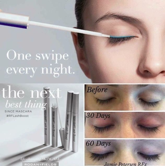 48c3ed6f1a7 Lash Boost. Just one swipe every night to get longer-looking,  darker-looking, fuller-looking lashes that are 100% real, 100% yours! 😊❤