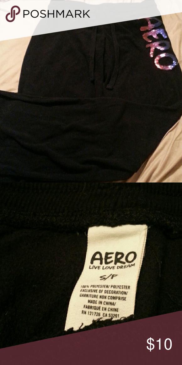Fleece Aero sweats Black and sequin sweats Aeropostale Pants Boot Cut & Flare