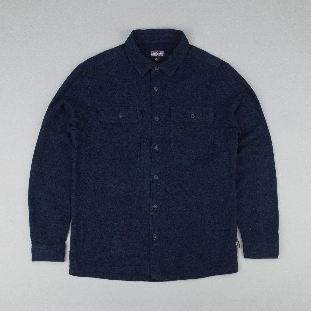 Patagonia Fjord Flannel Shirt - Navy Blue | Flatspot