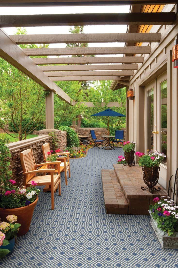 Beautiful Outdoor Area Lanai Room Scene Myers Carpet Lanai