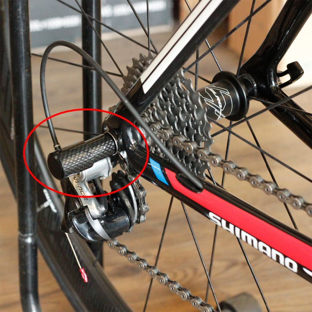 Carbon Bicycle Rear Derailleur Protector Guard Gear Mount On Quick