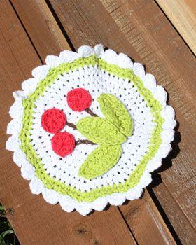 Lily Sugar n Cream - Cherry Dishcloth