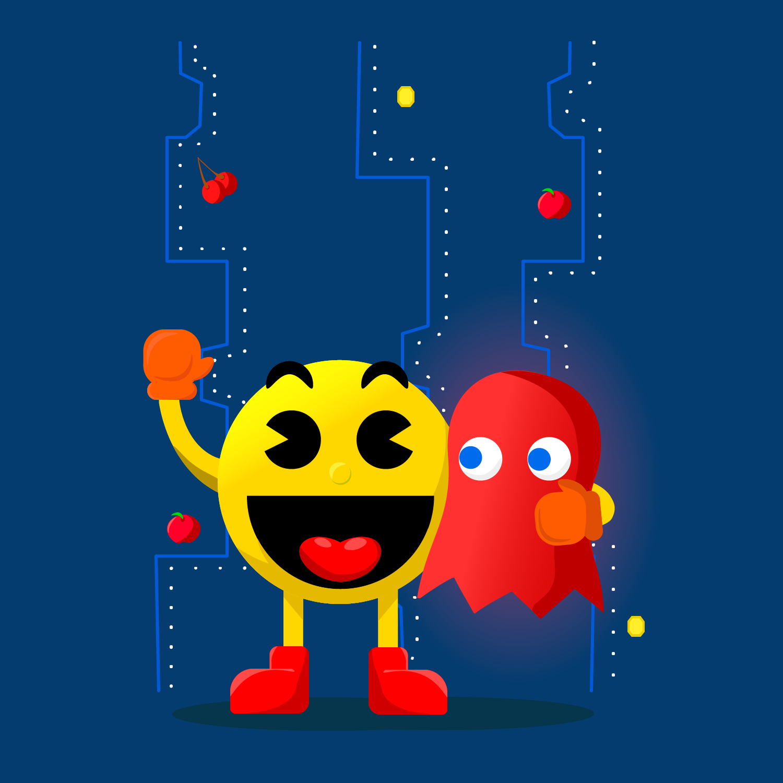 Pacman Video Game Wall Art Art Mario And Luigi