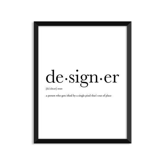 Designer Definition, Dictionary Art Print, Dictionary Art