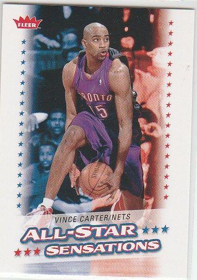 2008-09 Fleer All Star Sensations #AS25 Vince Carter