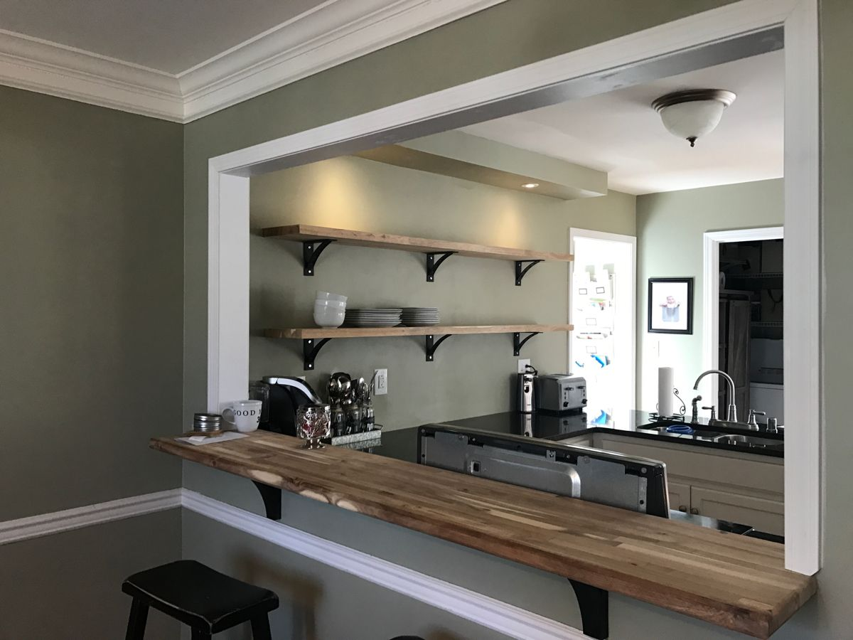 Opening the wall between the kitchen and dining room. in ...