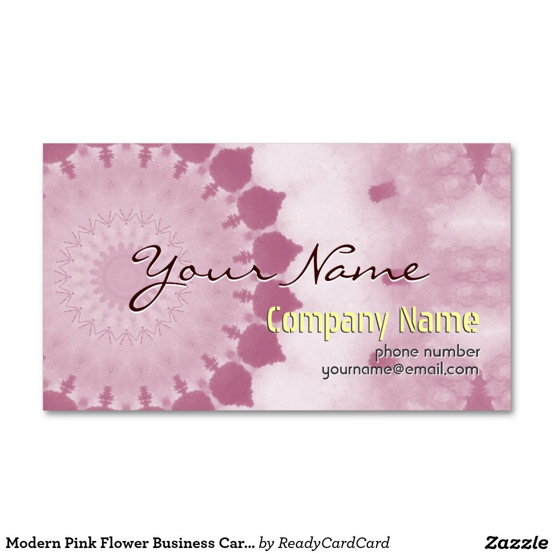 Modern Pink Flower Business Cards template | BIG HIT !!! | Pinterest