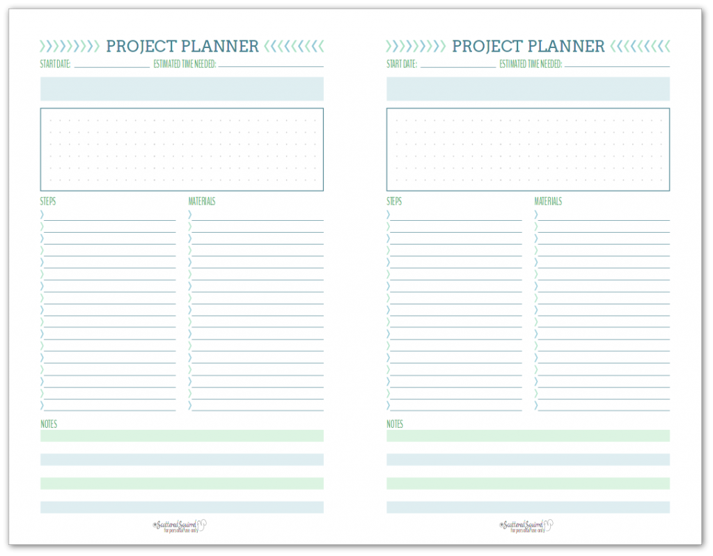 New Project Planning Printable Set In With Images