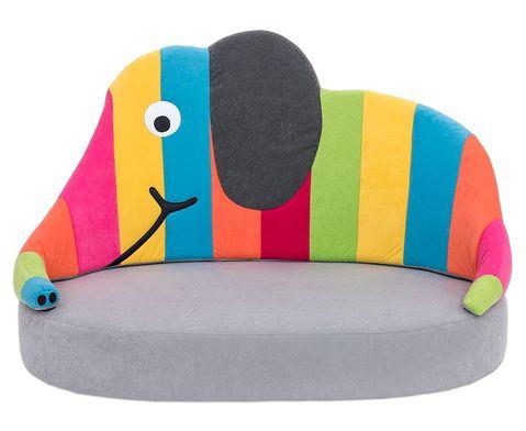 Elefantsofa bunt betzold kiga kita kindergarten sofa for Spielpodest kinderzimmer