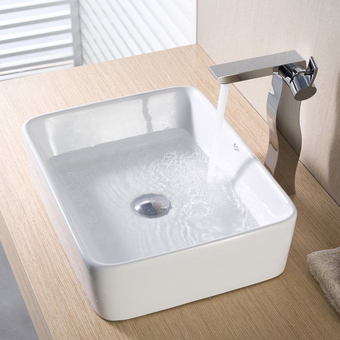 Ceramic Rectangular Vessel Bathroom Sink in 2018 Bathroom
