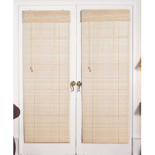 Roman natural bamboo french patio door shade overstock roman natural bamboo french patio door shade overstock shopping the best deals planetlyrics Choice Image