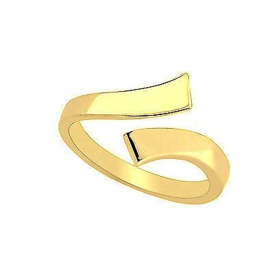 Ritastephens 14k Solid Gold Eternity Band Cubic Zirconia Toe Ring Channel-set Adjustable Body Jewelry Yellow or White