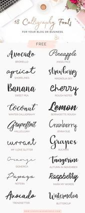 18 FREE calligraphy fonts