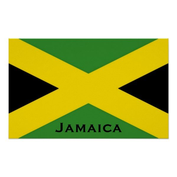 Jamaican Flag To The Edge With Jamaica Word Poster Jamaicanmehot Com Jamaican Flag Word Poster Jamaica