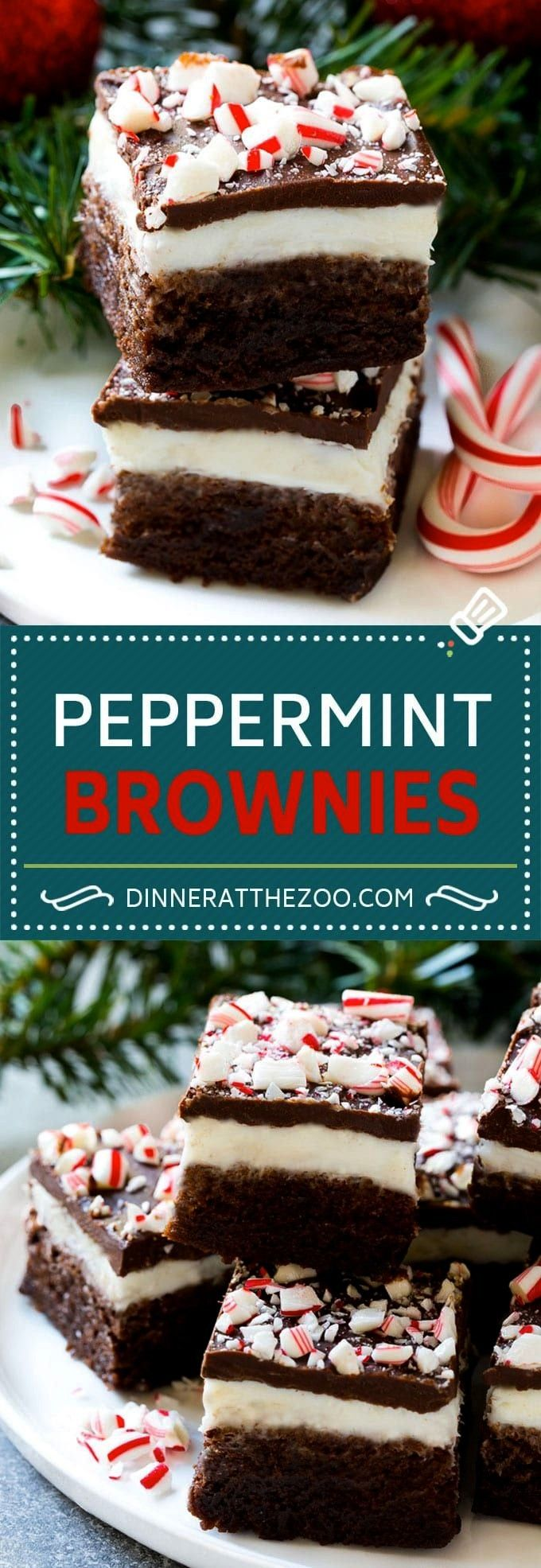 Brownies Recipe | Holiday Brownies | Candy Cane Brownies | Mint BrowniesPeppermint Brownies Recipe