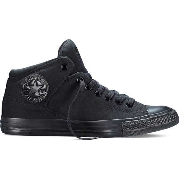d9bd26b13fd3 Converse Chuck Taylor All Star High Street Mono – black Sneakers ( 60) ❤  liked on Polyvore featuring shoes