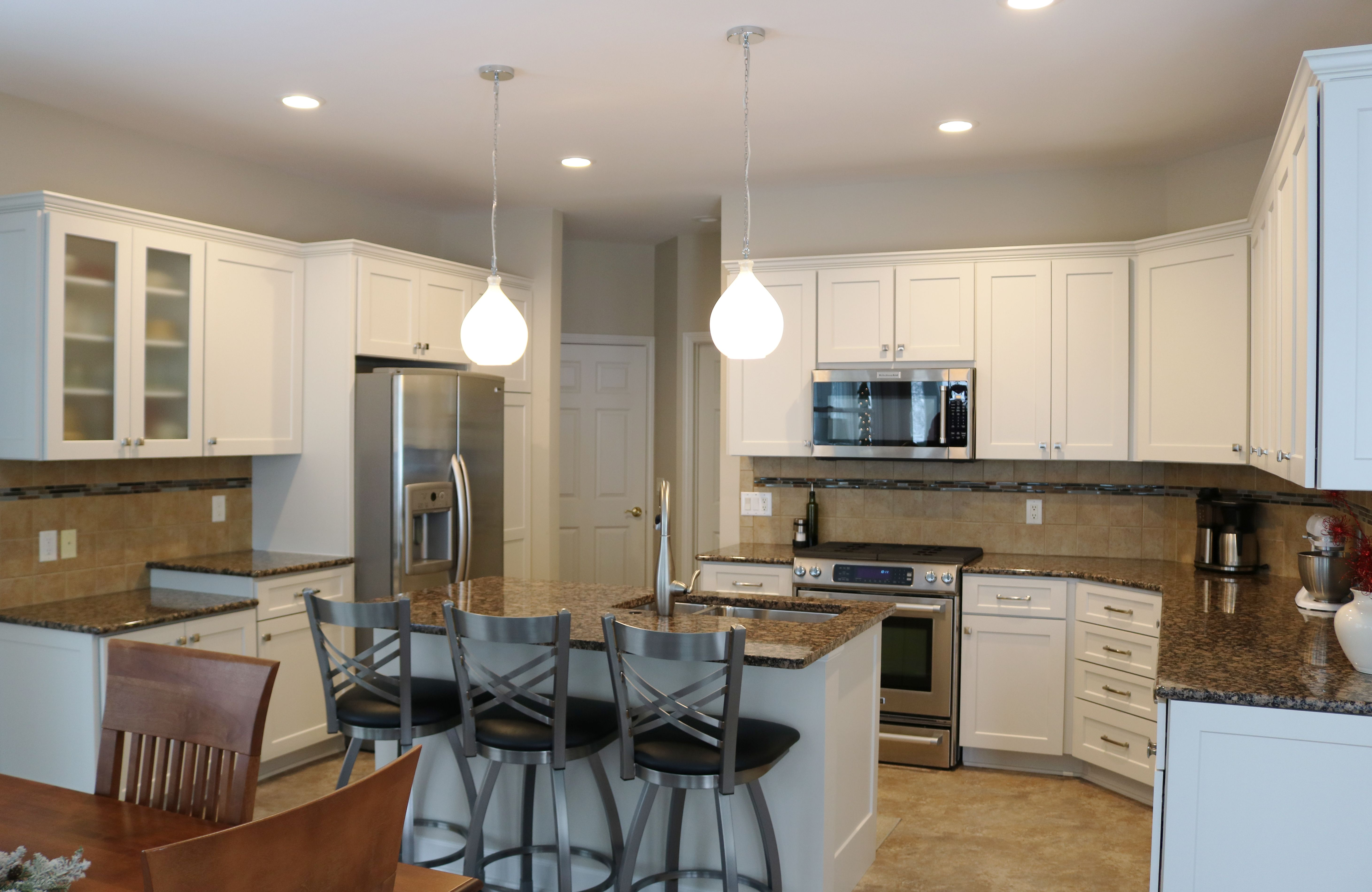 Shaker Door Style Cabinetry Painted Lace Off White Kitchen