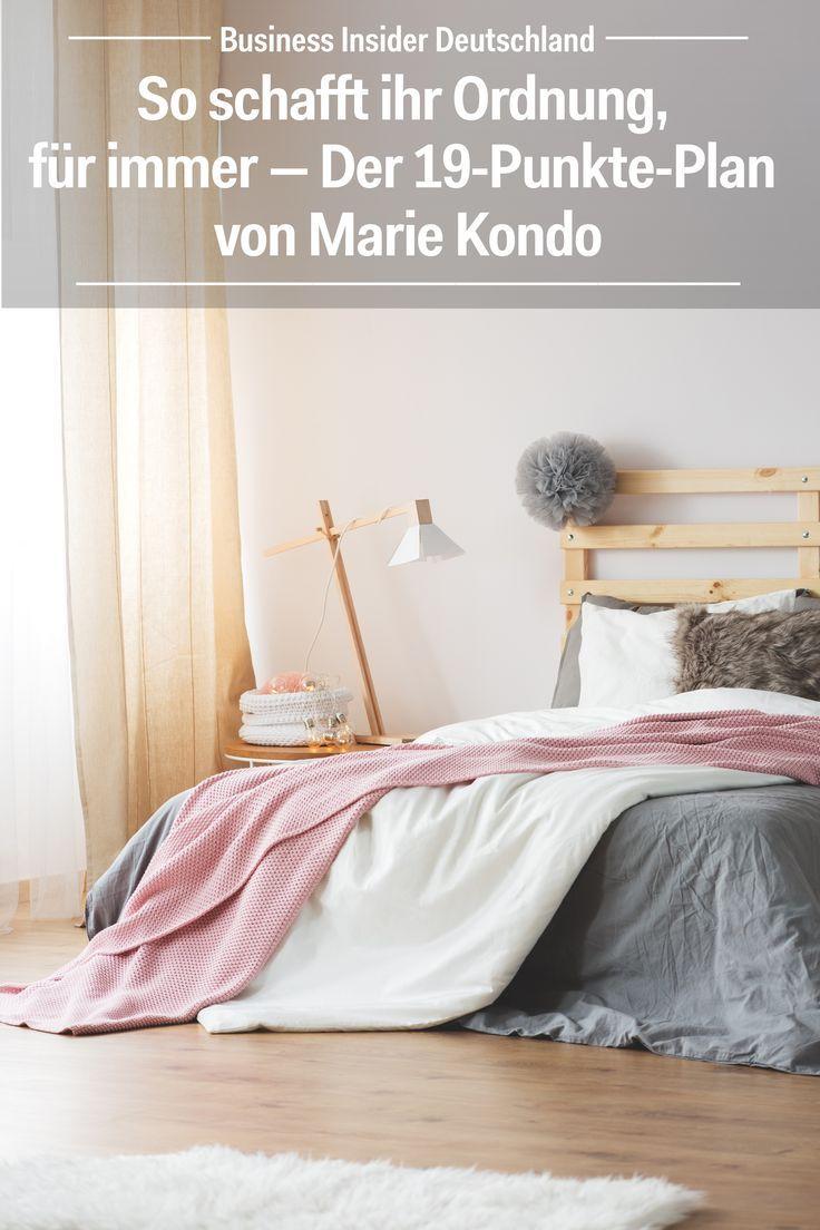 so schafft ihr ordnung f r immer der 19 punkte plan von marie kondo strategy pinterest. Black Bedroom Furniture Sets. Home Design Ideas