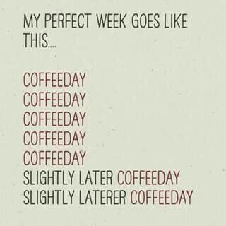 We take weekends off. Just not from coffee #MrCoffee