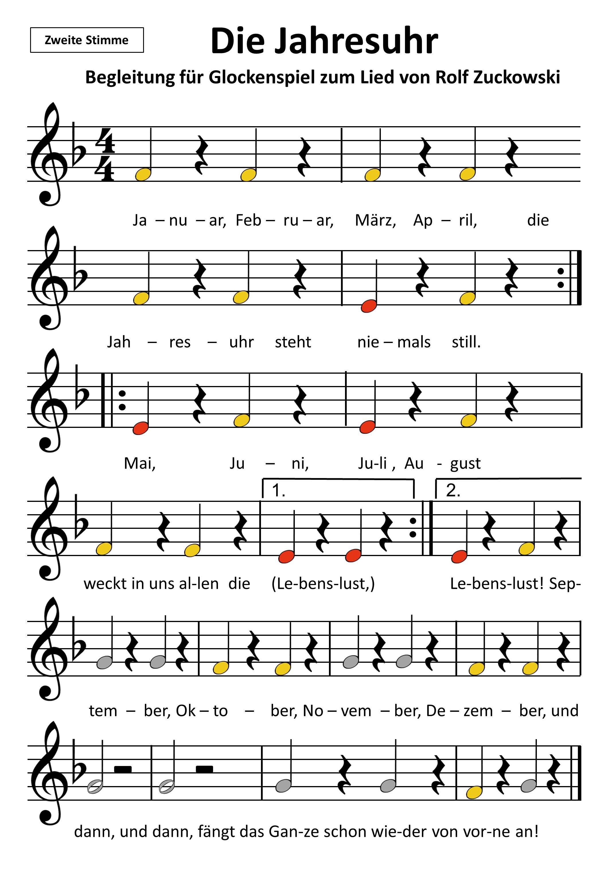 die jahresuhr steht niemals still  musik für kinder