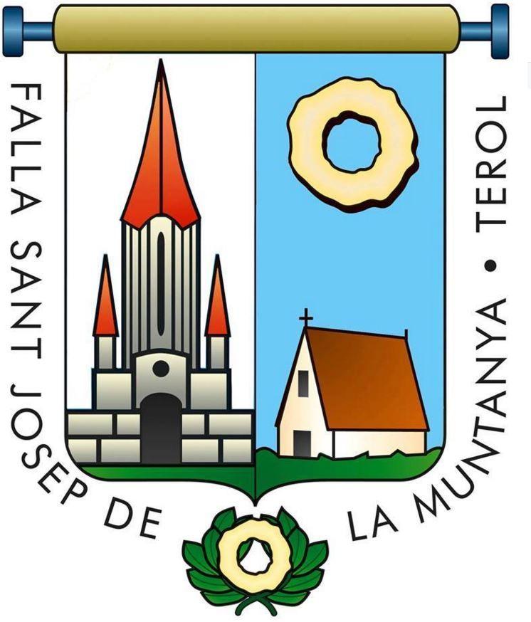 Falla que lleva el nombre de Sant Josep de la Muntanya al Terol