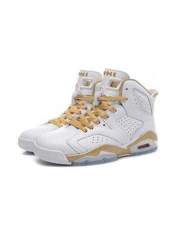 6cae3643fac Tênis Nike Air Jordan 6 Retrô Branco Dourado