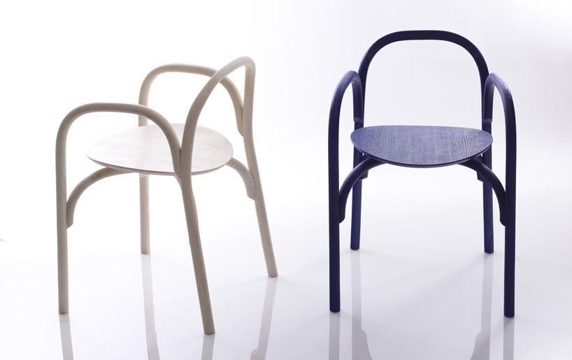 samuel wilkinson brace chair suspended in offcut installation ...