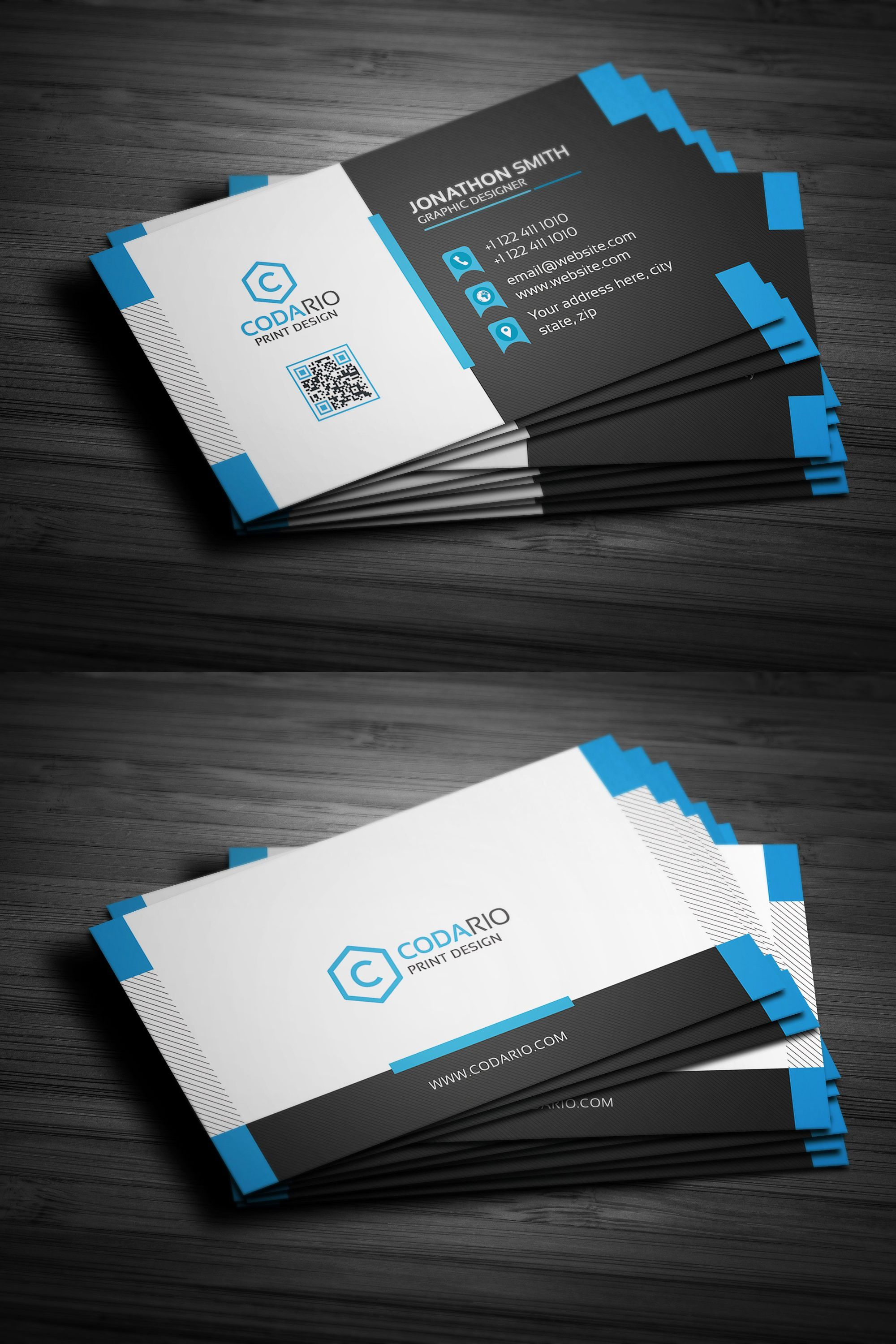 Modern Creative Business Cards Business Cards Creative Templates Business Card Psd Business Card Template Photoshop