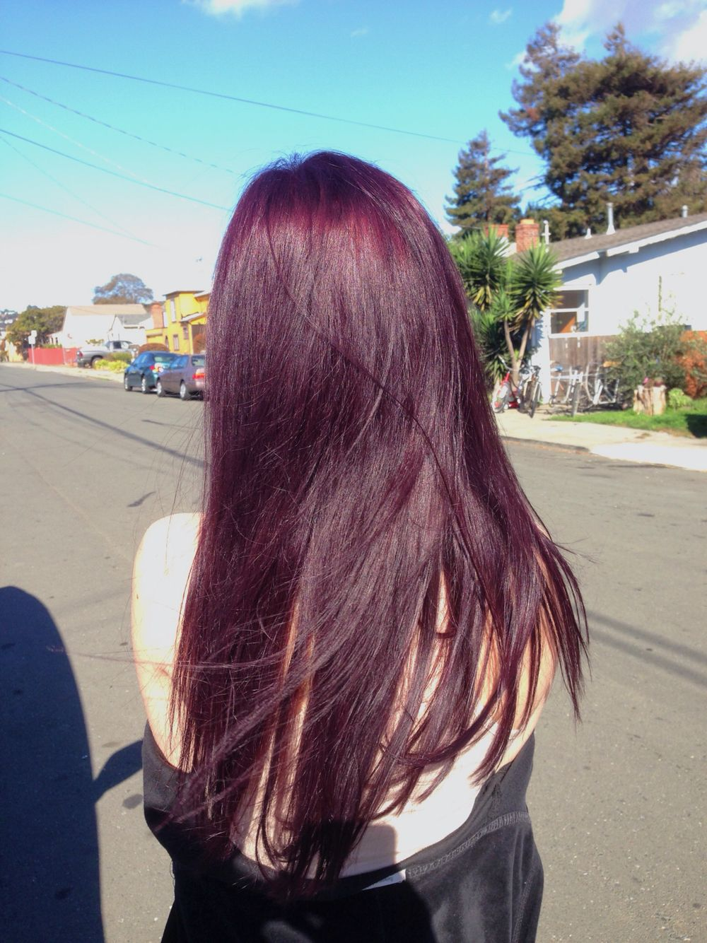 to wear - Purple dark brown hair video