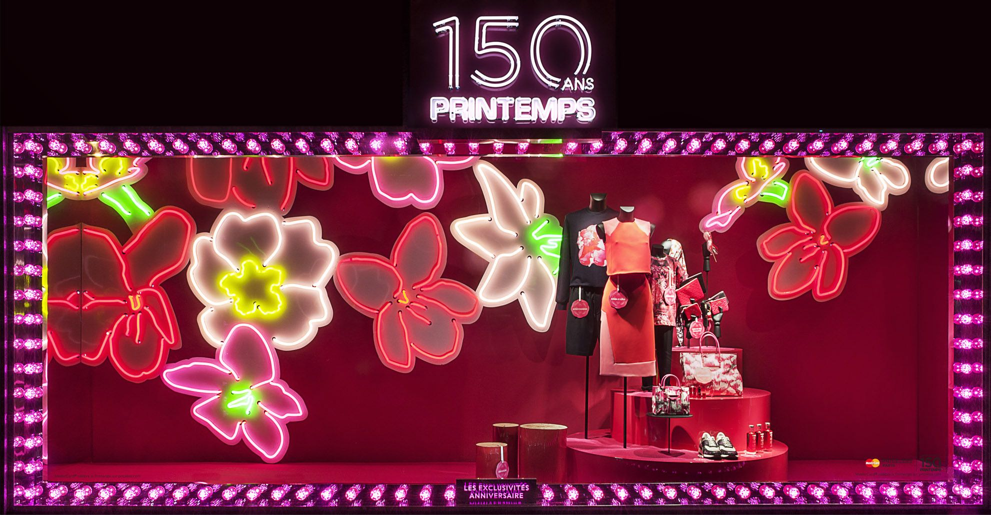 150th PRINTEMPS Anniversary. Paris Neon by Astrid Krogh 03.2015. photo@FrancisPeyrat 150.printemps.com