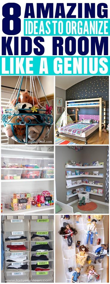 8 Amazing Ideas To Organize Your Kids Room Like A Genius images