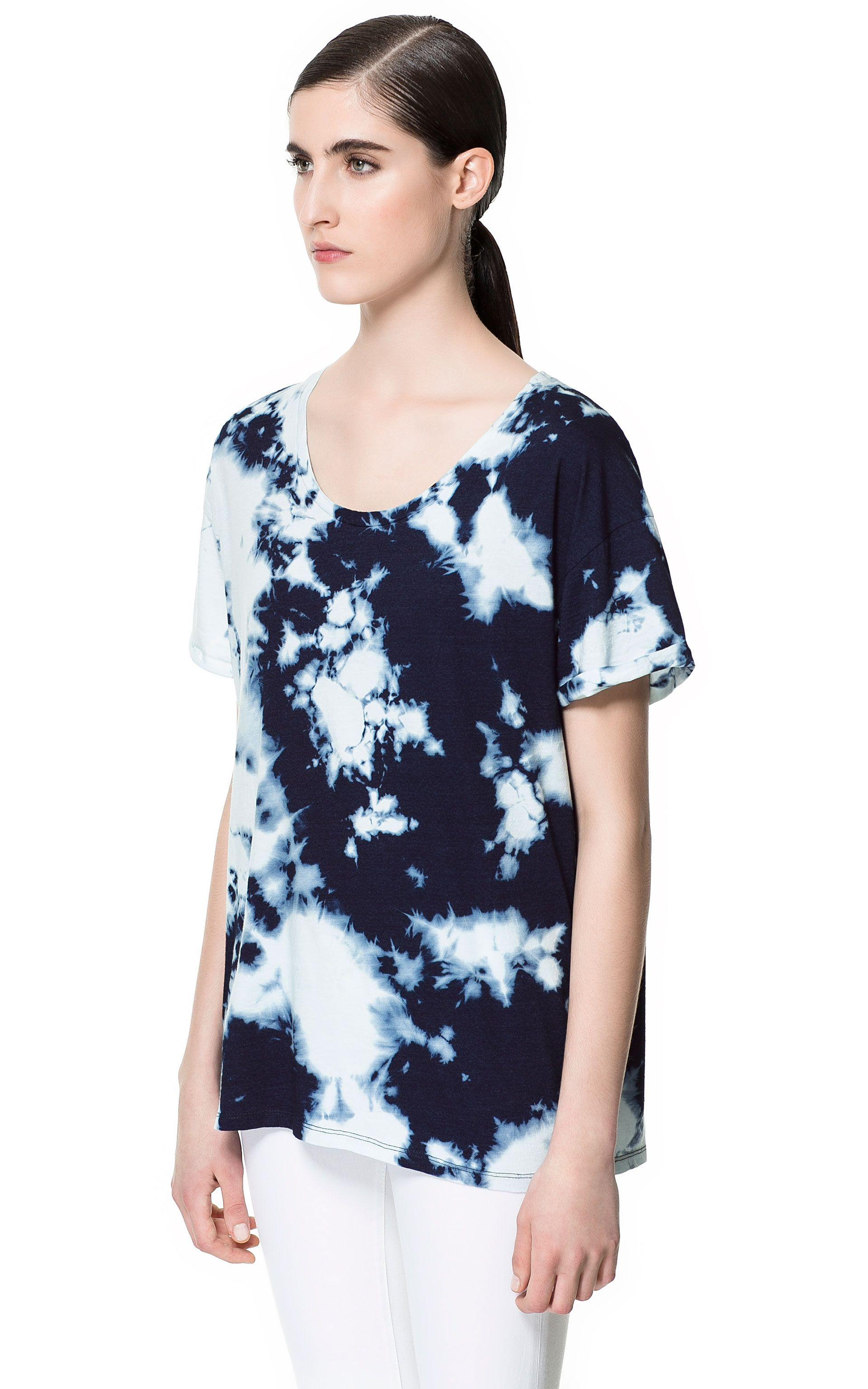 Mujer Camisetas Camiseta Algodón Zara Tie Dye EspañaTee xredCBoW