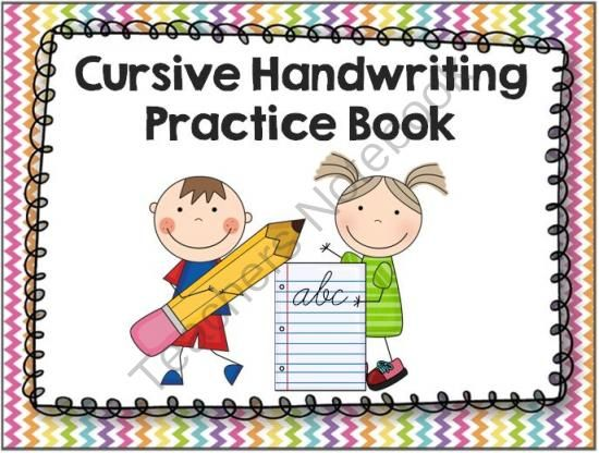 Cursive Handwriting Practice Book From