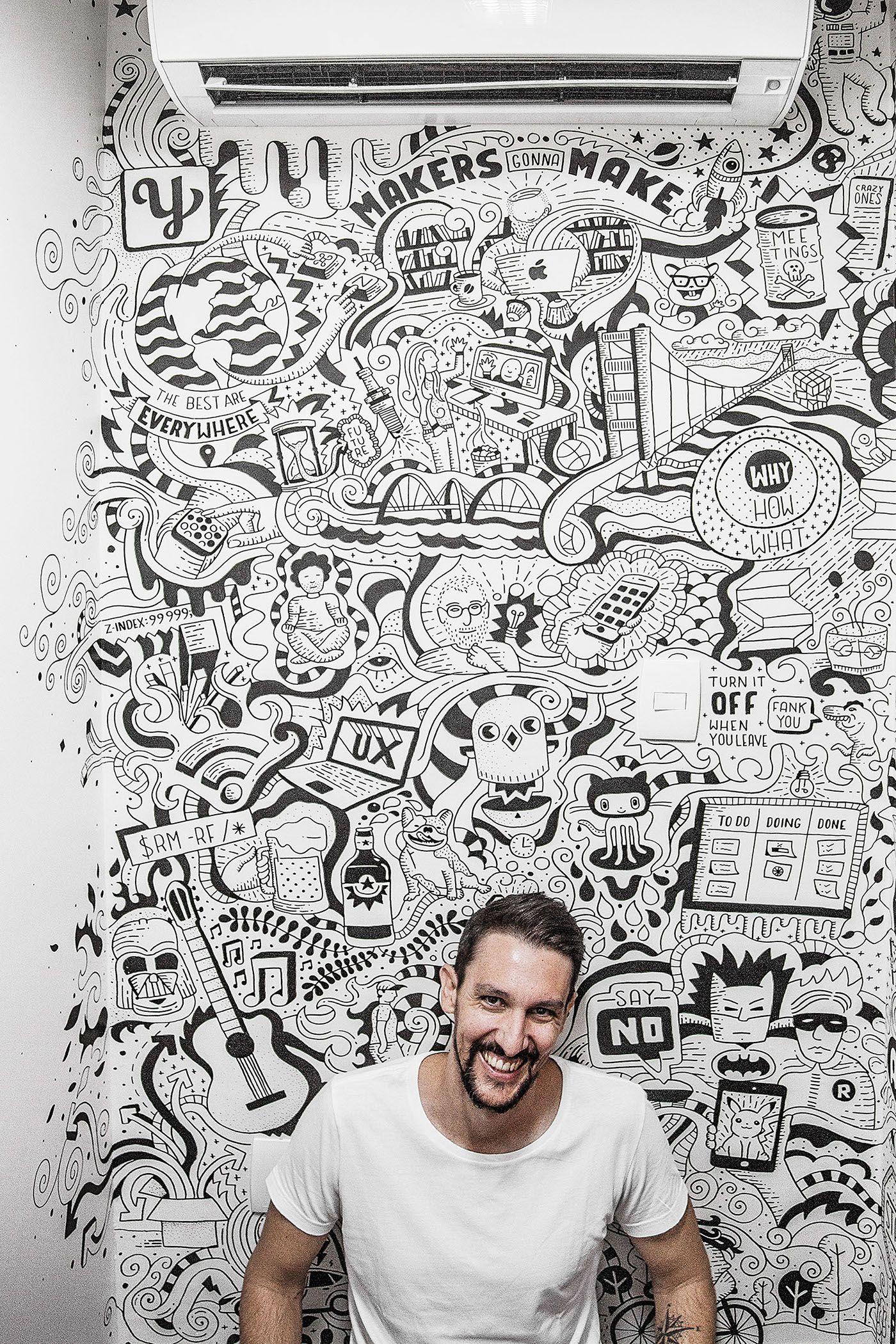 Mural Art For Startae Mural Wall Art Wall Drawing Mural