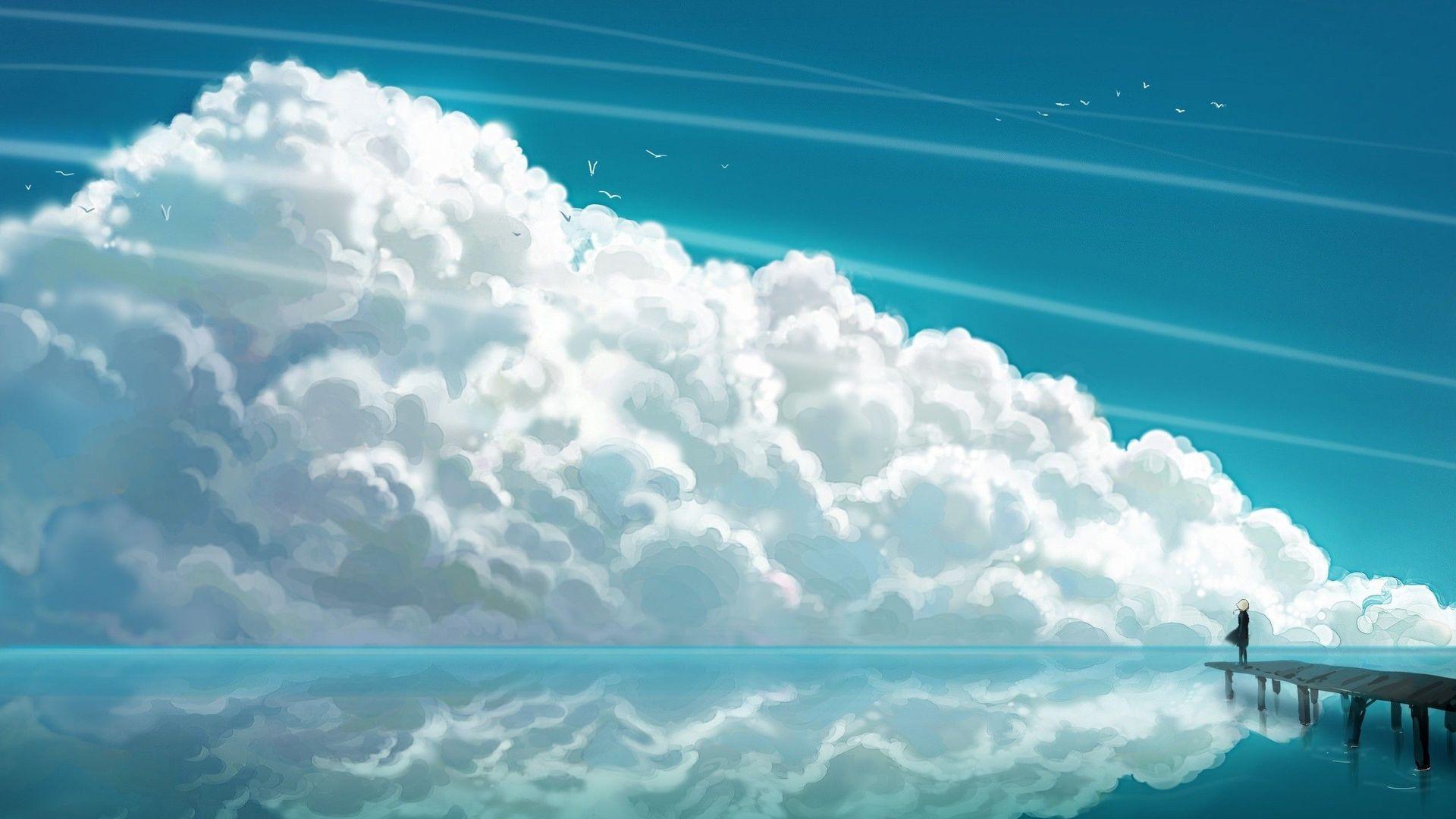Fond d'écran hd nuage ciel Fond ecran paysage, Univers