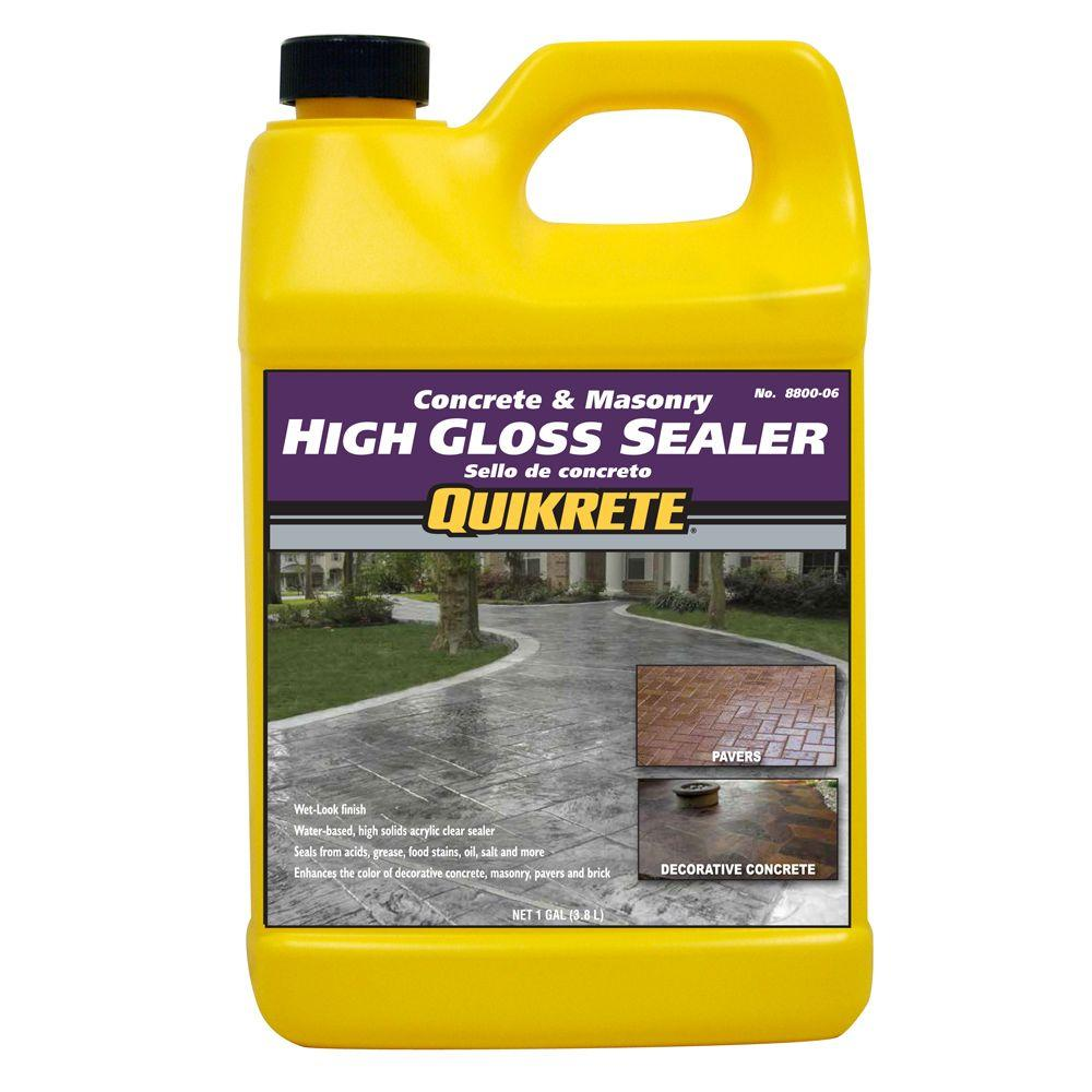Quikrete 1 Gal High Gloss Concrete Sealer 8800 06 With Images Concrete Sealer Concrete Sealer
