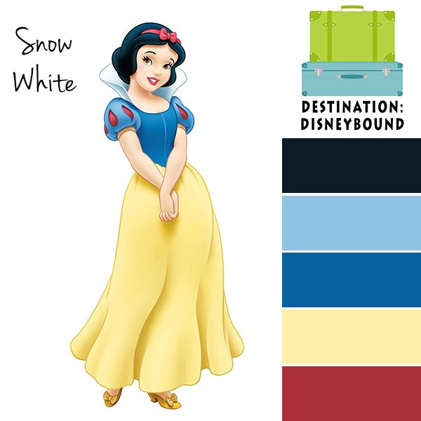 Snow White Disneybound Color Palette And Outfits Pinterest Disney Colors Schemes