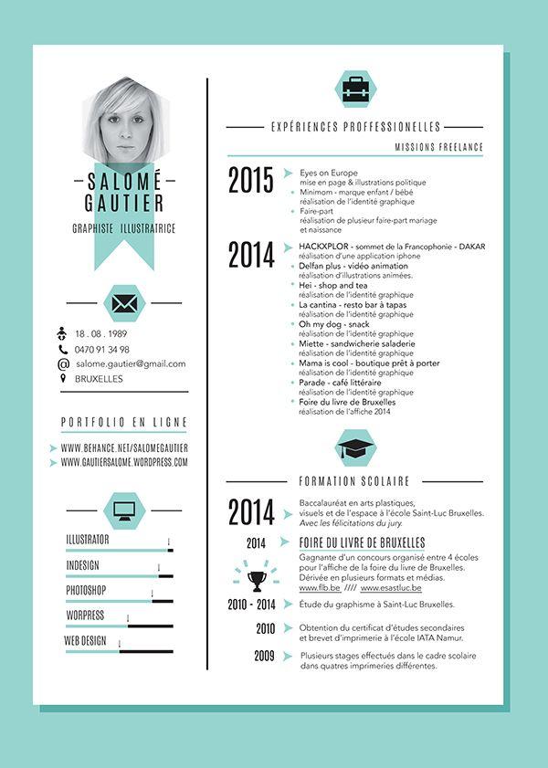 Curiculum vitae - portfolio on Behance ICON Pinterest - motion graphics resume