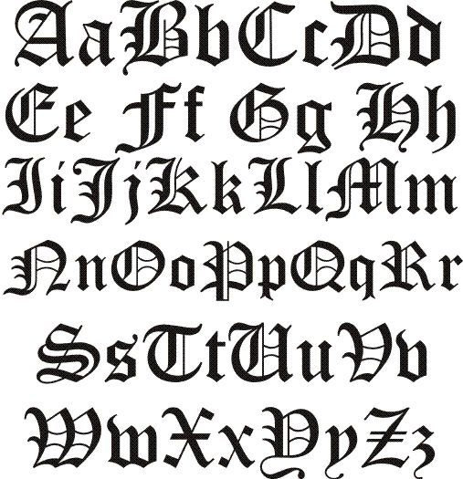 Old English Letters  Old English Font   Tattoos