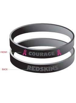Show your support with the Washington #Redskins rubber Breast Cancer