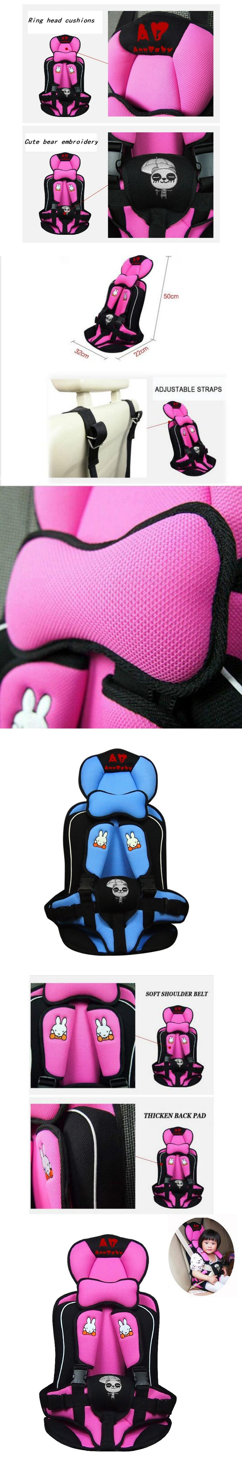 Boys And Girls Car Child Seat Portable Infant Rabbit Pattern Booster Seats Cushion For Toddlers Pink Blue