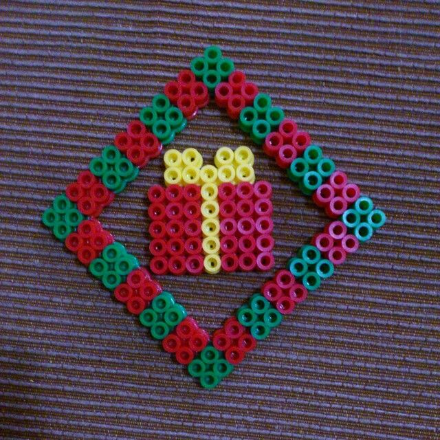Christmas ornament perler beads by laninafashion