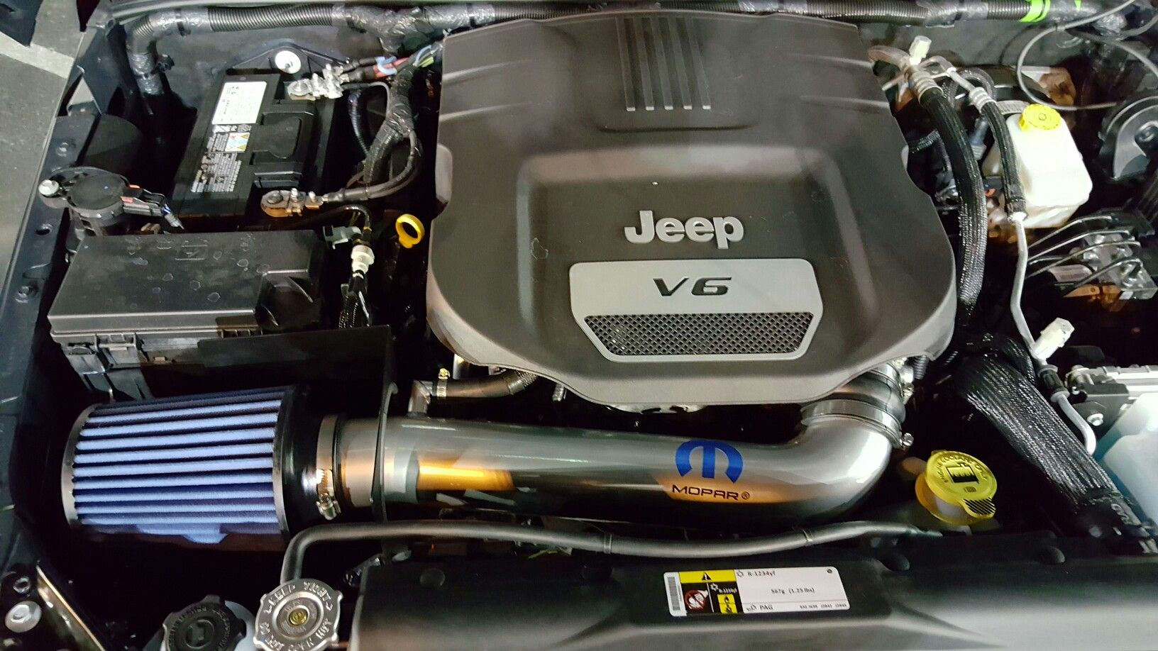 Mopar Cold air intake on Wrangler 3.6L Cold air intake
