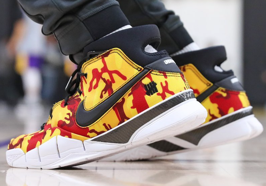 official photos 76499 ad60f Undefeated x Nike Kobe Protro Yellow Camo