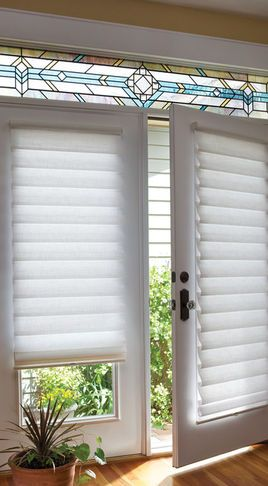 Charmant Back Door   Low Profile Roman Shades (houzz)