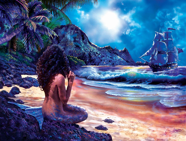 water flowers mermaid glasses long hair brown eyes pink hair ...