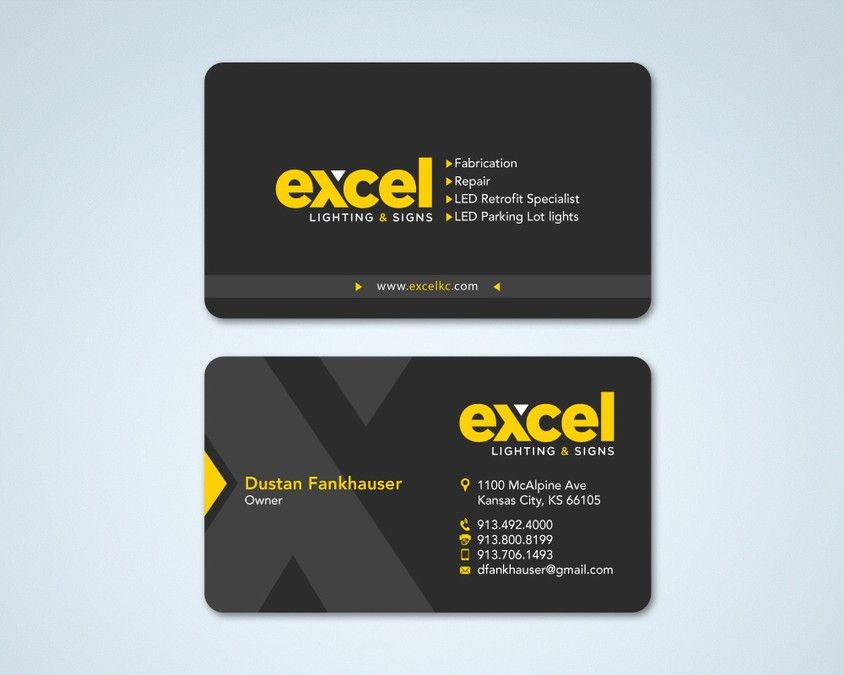 create vibrant new business card for Sign Company by Tcmenk ...